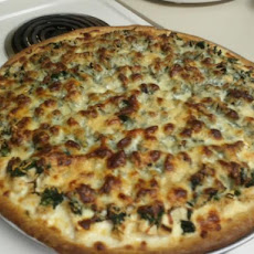 Chicken & Spinach Alfredo Pizza