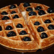 Whole Wheat Waffles With Blueberries