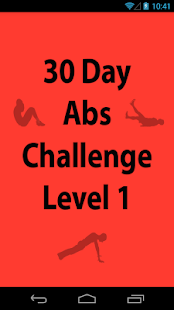 30 Day Abs Challenge Level 1 - screenshot