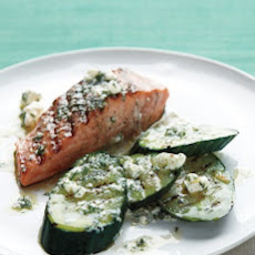 Grilled Salmon and Cucumbers