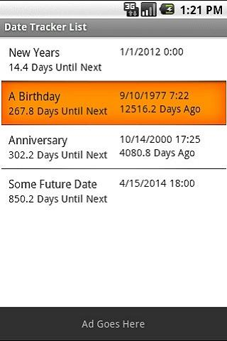 Date Tracker