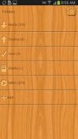 Screenshot of GO SMS Light Wood Theme