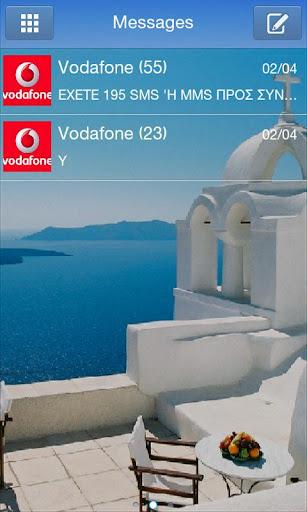 GO SMS Pro Santorini Theme