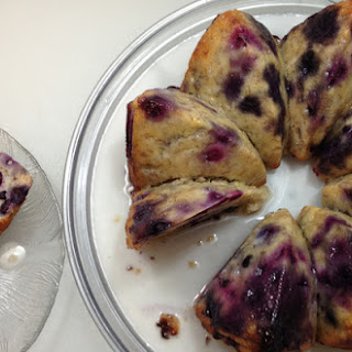 Scrumptious Blueberry Banana Cake