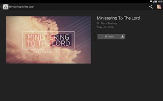Screenshot of Evangel Temple Church App