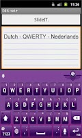Screenshot of SlideIT Dutch QWERTY Pack