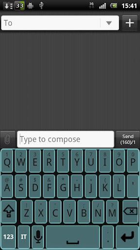 Minimal Tron Keyboard Skin