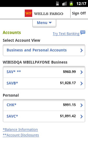 wells-fargo-mobile for android screenshot