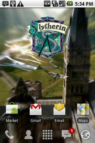 Harry Potter Slytherin Clock