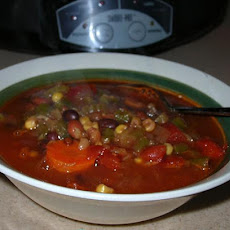 Pantry Clearing Chili Bean Soup