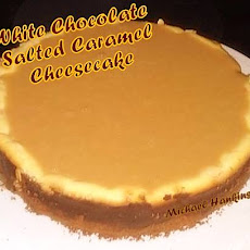 White Chocolate Salted Caramel Cheesecake