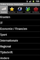 Screenshot of Online Kranten Nederland