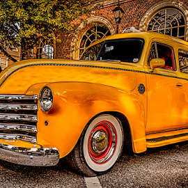 Yellow Taxi by RomanDA Photography - Transportation Automobiles ( car, old, taxi, bright, yellow, antique, classic )