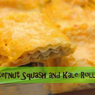 Butternut Squash and Kale Roll-ups