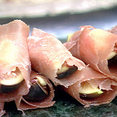 Fall Figs Stuffed with Stilton Cheese, Wrapped in Prosciutto and Chateau Elan Port Wine Syrup