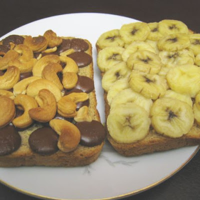 Banana Chocolate Cashew Panini