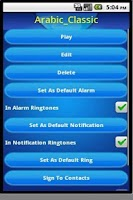 Screenshot of 2012 New Year ringtones