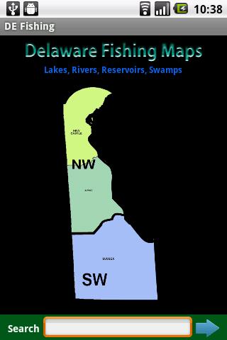 Delaware Fishing Maps - 1 000