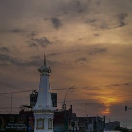 Sunset in Jogjakarta by Anis Abdillah - Instagram & Mobile Other ( urban landscapes, sunset, jogja, evening, nokian8 )