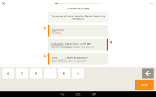 Screenshot of Learn Italian with Babbel