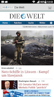 Screenshot of Zeitungen