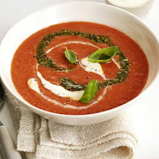 Rich Tomato Soup With Pesto