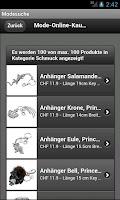 Screenshot of Modesuchmaschine - Schweiz