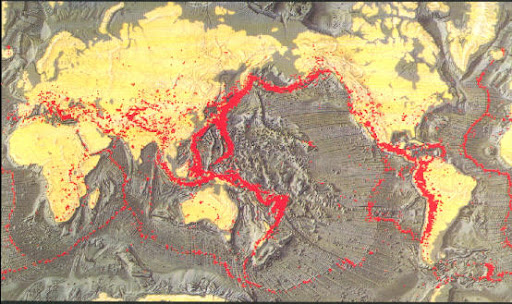 全球强震分布与板块构造
