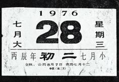 唐山地震中24余万人遇难