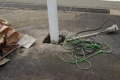 電照看板の設置1