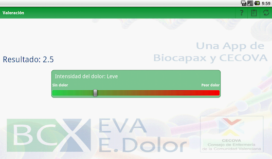 BCX EVA ESCALA DEL DOLOR - screenshot
