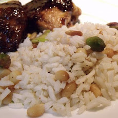 Pilau Rice With Pistachios and and Pine Nuts