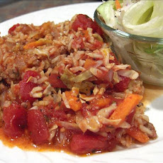 Crock Pot Hamburger Cabbage Casserole-Revised
