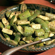 Zucchini and Green Pepper Sabzi