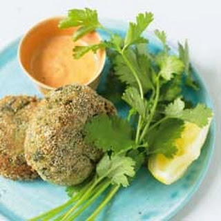 Louisiana Crab Cakes with Red Pepper Mayonnaise