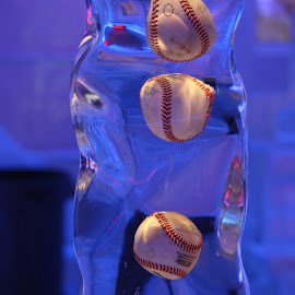 Baseballs in Ice by Diane Mondalto - Artistic Objects Other Objects ( baseballs, ice,  )