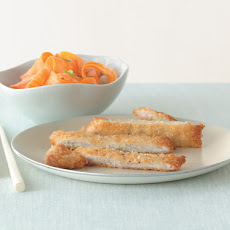 Pork Katsu with Quick Carrot Pickles