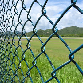 Airport Runway  by Adlah Donastorg - Artistic Objects Industrial Objects ( fence, flight, vacation, airplane, planes )