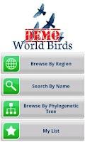 Screenshot of World Birds Demo