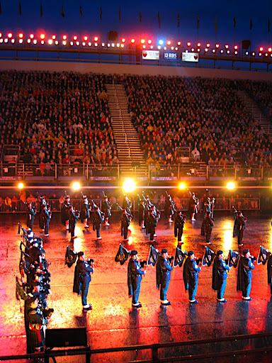 Norwegian Military Tattoo 2008 HMKG 3. Behind the scenes at the Edinburgh