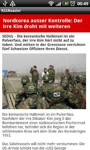 RSS Reader Swiss Edition