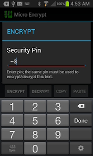 Micro Encrypt - screenshot