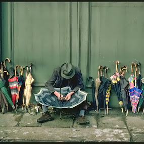 Umbrella Repair Man, Milano, Italy by Bruce Martin - People Street & Candids ( street life, street journalism, people )