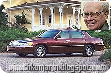 Warren Buffer car: Lincoln Town $42 billion car
