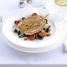 Red Mullet With Tomatoes, Olives & Anchovies
