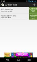 Screenshot of My Credit Cards