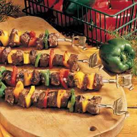 Beef and Pepper Kabobs