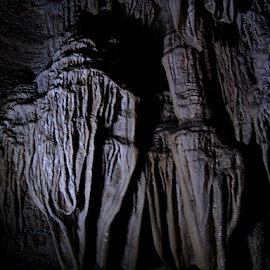 where Stalagmites meet Stalactites by Arup Chowdhury - Landscapes Caves & Formations