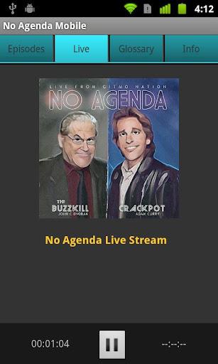 No Agenda Mobile - screenshot