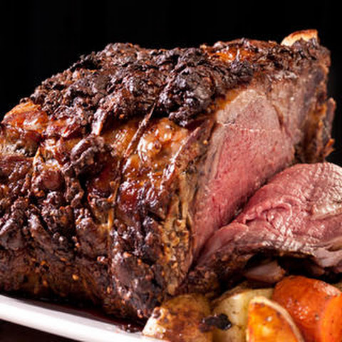 Mustard-Peppercorn Rib Roast